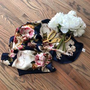 Echo Floral Silk Scarf